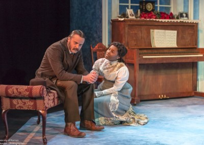 <em>A Doll's House</em> by Henrik Ibsen, adapted By Frank McGuinness / KU Theatre / Set Design: Dennis Christilles / Costume Design: Leah Mazur / Lighting Design: Mark Reaney