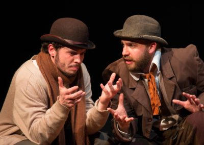 <em>Waiting for Godot</em> by Samuel Beckett, directed by Peter Zazzali - Queensland University of Technology; Set Design: Jaimeson Gilders and Joshua Skipp; Costume Design: Jaimeson Gilders ; Lighting Design: Liam Gilliland