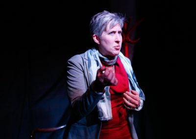 Christine Probst / <em>The Fever</em> by Wallace Shawn / Actors Repertory Theatre Luxembourg / Directed by Peter Zazzali / Set, Lighting, and Sound Design: Peter Zazzali / Costume Design: Christine Probst