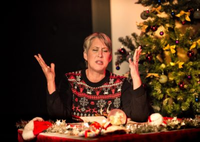 Christine Probst-Staffen in <em>Dear Santa</em> by Erik Abbott, directed by Peter Zazzali - Actors Repertory Theatre Luxembourg
